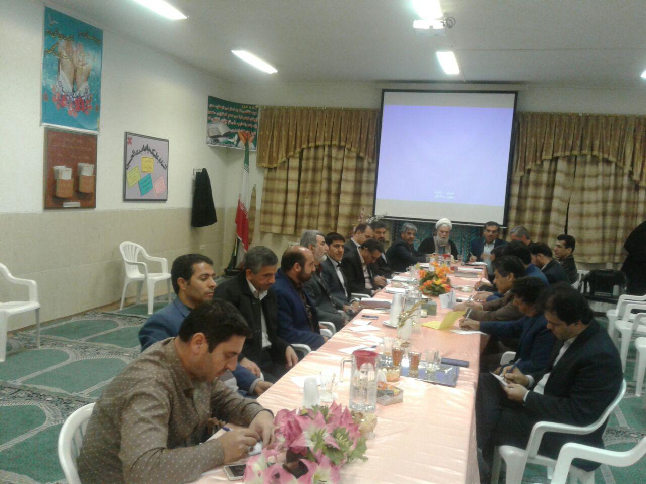 برگزاری جلسه شورای معاونین اداره آموزش وپرورش شهرستان آران و بیدگل