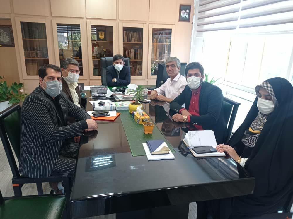 دیدار اعضای شورای اسلامی و مهندس پشتاره سرپرست شهرداری سفیدشهر با جناب آقای دکتر اسماعیل زیارتی