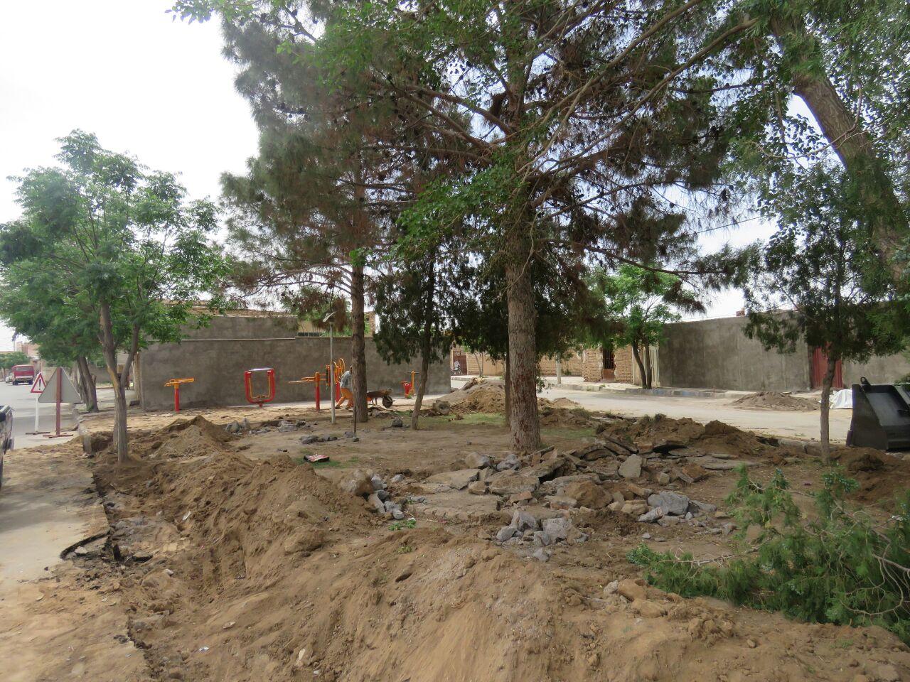 شروع عملیات جدولگذاری و بهسازی بوستان فاطمیون توسط شهرداری سفیدشهر